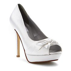 Dyeables Ada found at Women's Pumps, Heels, Satin Shoes, Bridesmaid Shoes, White Satin, Shoes Online, Peep Toe, Wedding Ideas, Weddings