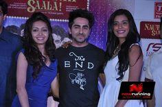 Pooja Salvi, Ayushmann Khurrana and Gaelyn Mendonca at Nautanki Saala Music Launch