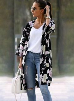 Latest fashion trends in women's Coats. Shop online for fashionable ladies' Coats at Floryday - your favourite high street store. Boho Outfits, Casual Outfits, Cute Outfits, Fashion Outfits, Womens Fashion, Fashion Trends, Latest Fashion For Women, Clothes For Women Over 50, Looks Plus Size