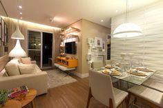 Living ampliado do apartamento de 2 dormitórios do HomeClub Guarulhos