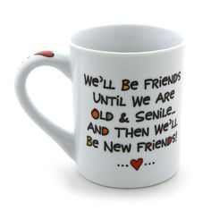 best friend gifts | Best Friend Forever (BFF) 16 Oz Coffee Mug by Our Name Is Mud #Christmas #thanksgiving #Holiday #quote