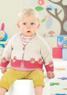 Babies & Girls Cardigans in Sirdar Snuggly DK (4530) - Digital Version