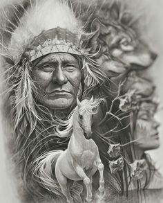 Native American Drawing, Native American Tattoos, Native American Pictures, Native American Artwork, Indian Pictures, American Indian Art, Native American Indians, Native Indian, Native Art