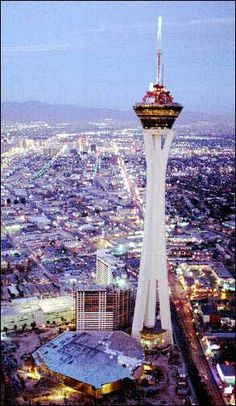 Stratosphere Tower , Las Vegas  - Saw someone bungy jump from the 108th floor.  Didn't realize I height issues till I was up there.