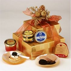 World Caviar Gift Basket - http://www.yourgourmetgifts.com/world-caviar-gift-basket/