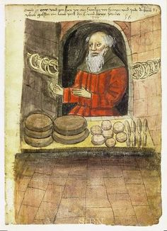 """Bread was """"the basis of the medieval diet"""" and the amount that people ate throughout Europe was remarkably similar. Records from England, France and Italy that workmen, soldiers and even patients in hospitals were supposed to get about two pounds of bread per day. http://www.MemoryMakerTravelResource.com"""