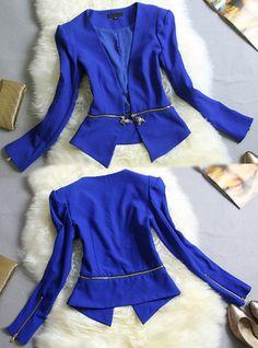 DIO** STYLE BLUE DUAL ZIP UP JAKET MBOX - 5343 - §~MILANO BOX~§ 당신의 패션을 완성 해드립니다. ☆★밀라노박스★☆