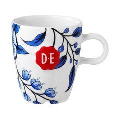 Douwe Egberts Hylper koffiekop blauw/wit   Blokker
