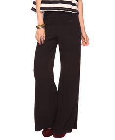 wide leg, high-waisted pants