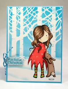Christmas is coming and I need to start making cards .. I do not know why but I adore Gorjuss Girl on Christmas cards.Today I want to present to you my version of Christmascard with Gorjuss girl. ...