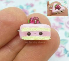 Hi everyone! Today I want to show you this kawaii strawberry cake slice I made a few days ago. I used the colour vanilla by Fimo for the cake part and for the strawberry part I mixed red and white clay together. On top of the cake is also a tiny strawberry with chocolate souce. I hope you like it☺