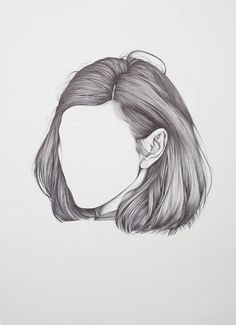 Image about hair in - ART - by ムーンチャイルド on We Heart It Drawing Sketches, Pencil Drawings, Art Drawings, Drawing Ideas, Sketching, Drawings Of Hair, Realistic Hair Drawing, Short Hair Drawing, Hair Sketch
