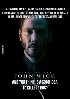 My thoughts after watching the John Wick trailer ...and just for the record, it's never a good idea to kill anybody's dog!