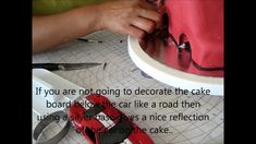 Decorating a Cake - Car Cake