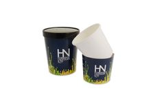 Custom printed compostable containers - Printed sleeves for Harvey Nichols