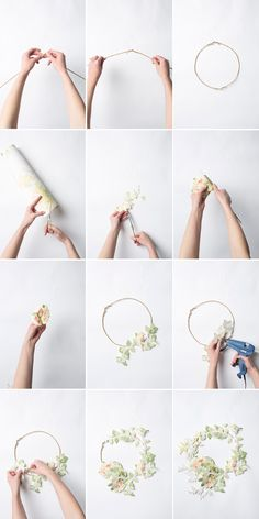 Make & Do: Spring Wreath from Laura Ashley Wallpaper
