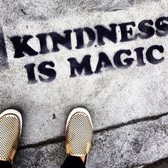 Sometimes all it takes is kindness to others to create magic! Never underestimate the power you have of being kind to others.