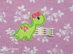Dinosaur Girl Feltie Hair Clip for toddlers, girls - Machine Embroidered Wool Felt Dino with Bow. $3.25, via Etsy. Felt Bows, 3rd Birthday Parties, Wool Felt, Hair Bows, Hair Clips, Machine Embroidery, Toddlers, To My Daughter, Christmas Decorations