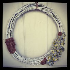 "Beautiful Shabby Chic Wreath for sale on Etsy, search ""All About the Cozy""!! - @allaboutthecozy- #webstagram"