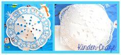Dazzling Paper Plate Snowflakes - Kinder Craze: A Kindergarten Teaching Blog