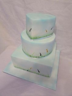 spring wedding cake by jenny lofthouse