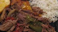 This is a delicious pot roast with peppers and onions. Just like at the Cuban restaurants in the malls!