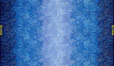 Blue Feather Ombre Double Border - Timeless Treasures - 1 yard - More Available by BywaterFabric on Etsy