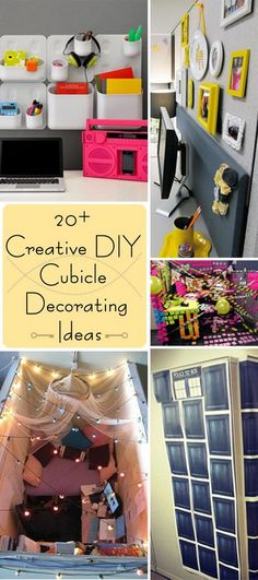 54 Ways To Make Your Cubicle Suck Less | Cubicle, Gray and Office spaces