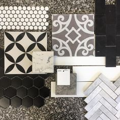 Be Daring & Add Bold Patterns #pattern #shape #marble #terrazzo #porcelain #modern #traditional #feature #mosaic #featurewall #featuretiles #floortile #natural #bold #blackandwhite #monochrome #tile #tiles #tiling #tileaddiction #tilelove #hexagon #herringbone #pennyrounds #melbourne #thomastown #dandenong #tileciti