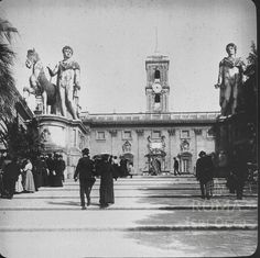 Campidoglio (1914) Old Photographs, Louvre, Antique, Building, Travel, Rome, Italia, Fotografia, Viajes