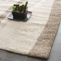 @Overstock - This power-loomed shag rug offers luxurious comfort and unique styling with a raised high-low pile. High-density polypropylene pile features a cream background with dark brown accents and provides one of the most plush feelshttp://www.overstock.com/Home-Garden/Ultimate-Cream-Dark-Brown-Shag-Rug-23-x-11/7278250/product.html?CID=214117 $97.99
