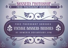 Efeito Photoshop: Floral Banners Free Photoshop Brushes