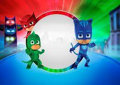 Super Héroes en Pijamas: Invitaciones para Imprimir Gratis.