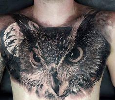 Tattoo Motiv Eule Mond