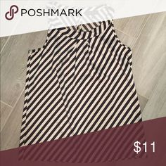 Sateen striped blouse Like new Satin striped top. Poly/spandex. 16.5' bust The Limited Tops Blouses