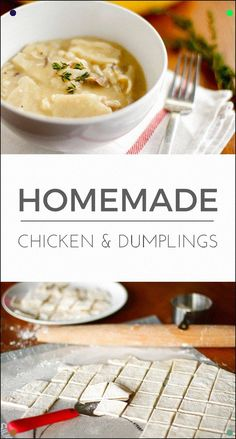 Easy Homemade Chicken And Dumplings - This Chicken And Dumplings Recipe Is The Ultimate Quick And Easy Comfort Food, With A Taste Every Bit As Delicious As The Cracker Barrel Version Via Unsophisticook On Casserole Recipes, Soup Recipes, Chicken Recipes, Cooking Recipes, Gumbo Recipes, Dinner Recipes, Copycat Recipes, Cooking Ideas, Chicken
