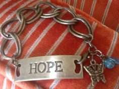 HoPe CHaiN BRaCeLeT/ BuTTeRfLy Charm/ Apatite by Ivanwerks on Etsy