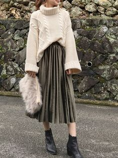 How often do you run across something fabulous, that influences your style? Muslim Fashion, Hijab Fashion, Korean Fashion, Fashion Outfits, Fashion Trends, Modest Outfits, Skirt Outfits, Casual Outfits, Long Skirt Fashion