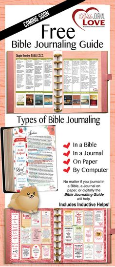 FREE-BIBLE-JOURNAL-GUIDE No matter if you journal in a Bible, a Journal on paper, or digitally the Bible Journaling Guide will help. Designed to fit inside a but can be put in notebook God and Jesus Christ Bible Study Journal, Scripture Study, Bible Art, Prayer Journals, Art Journaling, Scripture Journal, Bible Prayers, Bible Scriptures, Bible Quotes