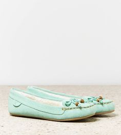 AEO Bow Moccasin | American Eagle Outfitters on Wanelo