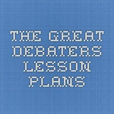 The Great Debaters Lesson Plans