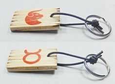 Key holder with zodiac sing and astrological symbol Taurus, birthday gift, keys organization, Valentine's Day, gift for him, gift for her, by BurnedMatchCreations on Etsy