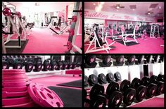 This WILL be what my home gym looks like one day. <3 Pink Iron Gym in West Hollywood.