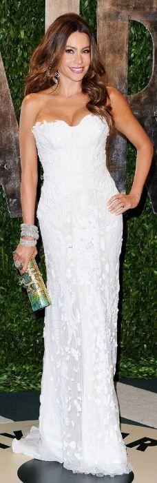 Sofia Vergara at the Hollywood Oscar After Parties:    Dress – Roberto Cavalli    Shoes – Casadei