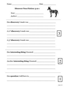 This is a great Writing to Learn (WtL) activity for students to record their thinking and learning AFTER reading a non-fiction text. Students can r...