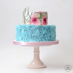 Витраж торт № 1388 на заказ в Москве