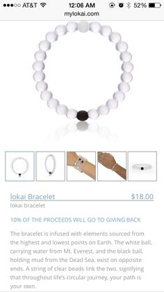 Lokai bracelet. I need this! Love the meaning behind it