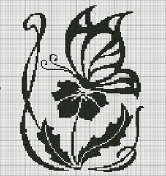 farfalla in punto croce <3
