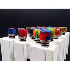 Colored 510 drip tips