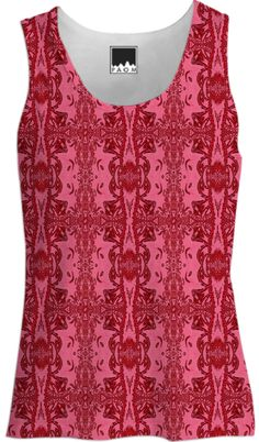 Red Abstract Pattern Tank Top from Print All Over Me
